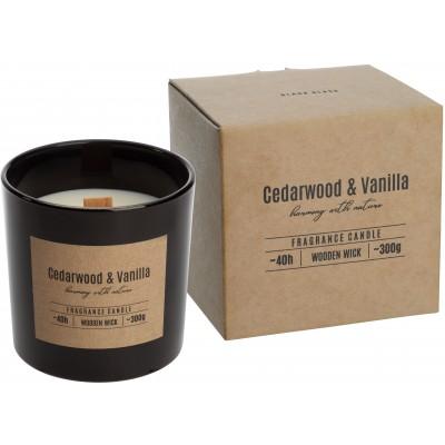 Свічка з дерев'яним гнітом Кедр Ваніль (CedarWood and Vanilla)