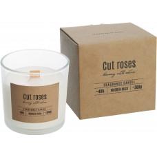 Свічка з дерев'яним гнітом Зрізані Троянди (Cut Roses)