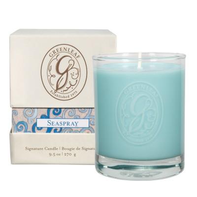 Свеча в стекле Брызги Моря (Seaspray) Greenleaf