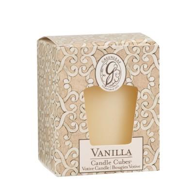 Свеча-Кубик Ваниль (Vanilla) Greenleaf