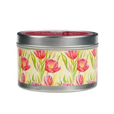 Свеча в табакерке Цветущие Тюльпаны (Blushing Tulips) Greenleaf