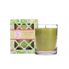 Свеча в стекле Огурец и Лилия (Cucumber Lily)