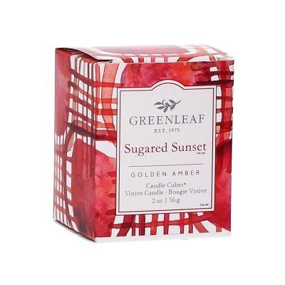 Свеча-Кубик Сахарная заря (Sugared Sunset) Greenleaf