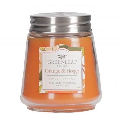 Свеча миниатюрная Апельсин и Мед (Orange & Honey) Greenleaf