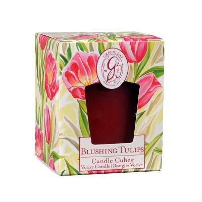 Свеча-Кубик Цветущие Тюльпаны (Blushing Tulips) Greenleaf