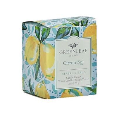 Свеча-Кубик Цитрусовое Солнышко (Citron Sol) Greenleaf