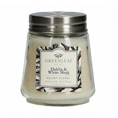 Свеча миниатюрная Далия и Белый Мускус (Dahlia White Musk) Greenleaf