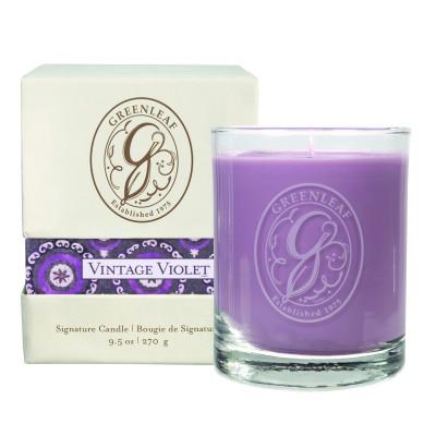 Свеча в стекле Винтажная Фиалка (Vintage Violet) Greenleaf