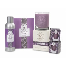 Свеча в стекле Винтажная Фиалка (Vintage Violet)