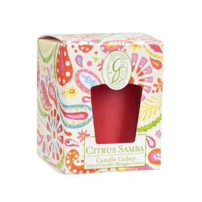 Свеча-Кубик Цитрусовая Самба (Citrus Samba) Greenleaf