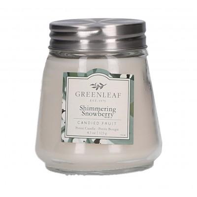 Свеча миниатюрная Мерцающий Снежник (Shimmering Showberry) Greenleaf