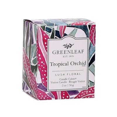 Свеча-Кубик Тропическая орхидея (Tropical Orchid) Greenleaf