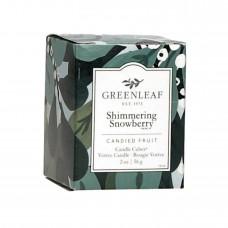 Свеча-Кубик Мерцающий Снежник (Shimmering Showberry)