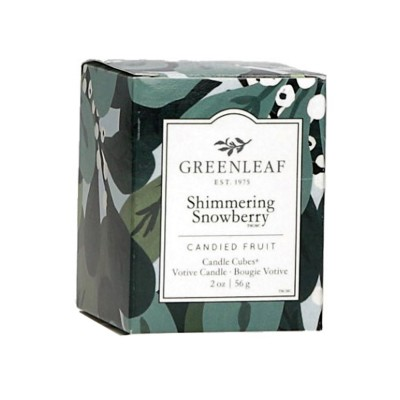 Свеча-Кубик Мерцающий Снежник (Shimmering Showberry) Greenleaf