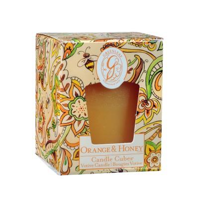 Свеча-Кубик Апельсин и Мед (Orange and Honey) Greenleaf