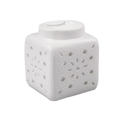 Аромалампа Scentchips Квадрат-Узор (Белый) Scentchips