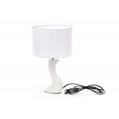 Лампа настольная Волна, белая, 37см.