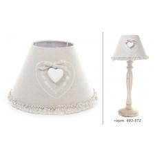 "Абажур для лампы ""Прованс"", с декором сердце."