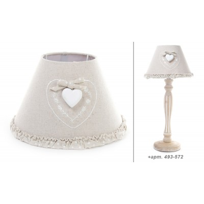 Абажур для лампы Прованс, с декором сердце.
