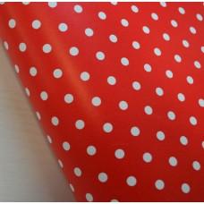 Бумага упаковочная Красный горошек  БЕСПЛАТНО