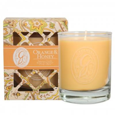 Свеча в стекле Апельсин и Мед (Orange and Honey) Greenleaf