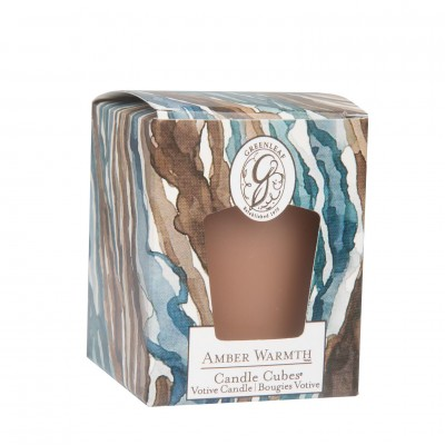 Свеча-Кубик Тепло янтаря (Amber Warmth) Greenleaf