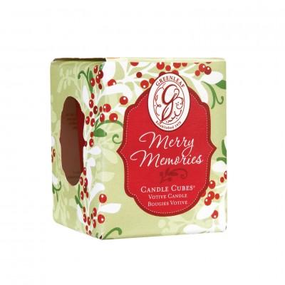 Свеча-Кубик Воспоминания Рождества (Merry Memories) Greenleaf
