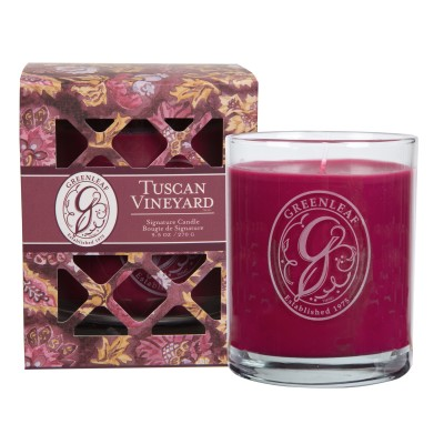 Свеча в стекле Виноград Тосканы (Tuscan Vineyard) Greenleaf